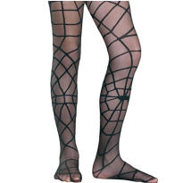 Child Black Spiderweb Tights