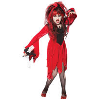 Girls Red Devil Bride Costume