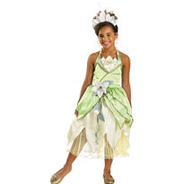 Girls Tiana Costume Deluxe - Princess and the Frog