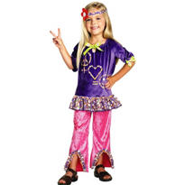 Toddler Girls Hippie Costume