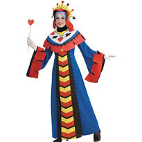 Adult Playing Card Queen Costume Deluxe