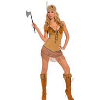 Adult Tribal Princess Brown Native American Costume
