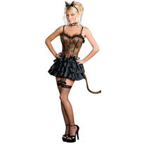Adult Bonjour Kitty Cat Costume
