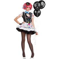 Teen Girls Sassie the Clown Costume