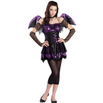 Teen Girls Battitude Bat Costume