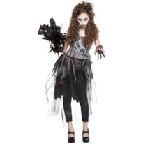 Girls Zombie Prom Queen Costume
