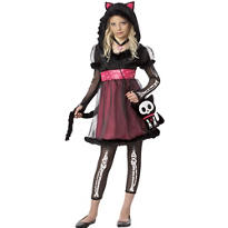 Girls Kit the Kat Costume - Skelanimals