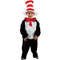 Toddler Boys Cat in the Hat Costume Deluxe - Dr. Seuss