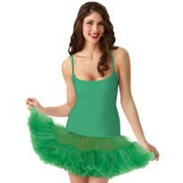 Adult Christmas Green Petticoat Dress