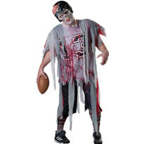 Adult Football Zombie Costume Plus Size
