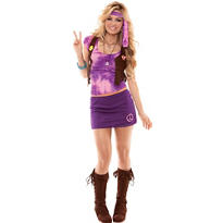 Adult Peace, Baby, Peace Hippie Costume