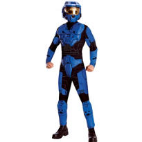 Teen Boys Halo Blue Costume Deluxe