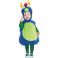 Toddler Plush Belly Monster Costume