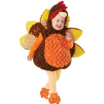Toddler Plush Belly Turkey Costume