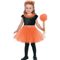 Toddler Girls Orange Princess Costume