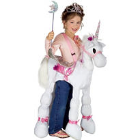 Girls Ride A Unicorn Costume