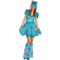 Girls Sassy Sulley Costume - Monsters University
