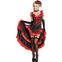 Adult Can-Can in Paris Dancer Costume