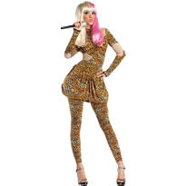 Adult Leopard Rap Superstar Costume