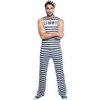 Adult Jailbreak Prisoner Costume