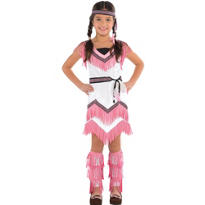 Girls Spirited Native American Costume