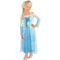 Girls Elsa Costume - Frozen