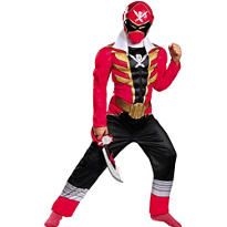 Boys Red Ranger Muscle Costume - Power Rangers Super Megaforce