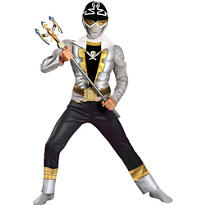 Boys Silver Ranger Muscle Costume - Power Rangers Super Megaforce
