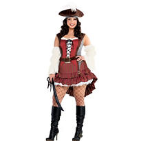Adult Castaway Pirate Costume Plus Size