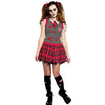 Girls UC Dead People Schoolgirl Costume