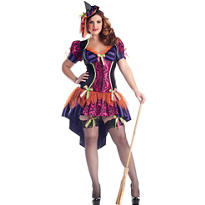 Adult Witch Body Shaper Costume Plus Size