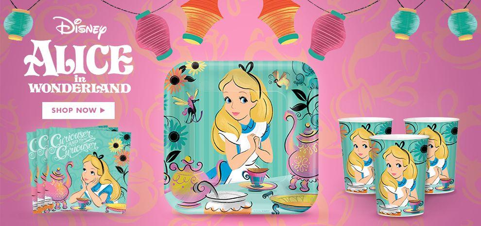 Alice in Wonderland Birthday Party Supplies