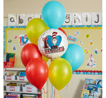Dr. Seuss Balloon Bouquet Idea