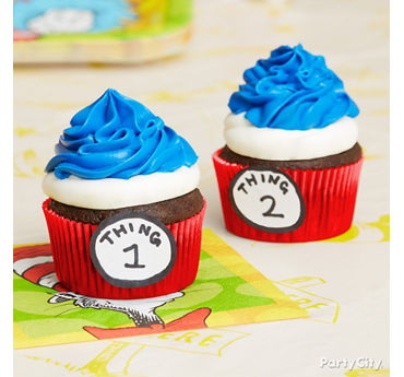 Thing 1 Thing 2 Cupcakes Idea