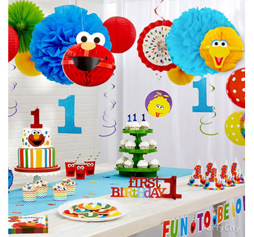 Elmo First Birthday Decorations Idea