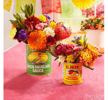 Flowers in Cans Idea