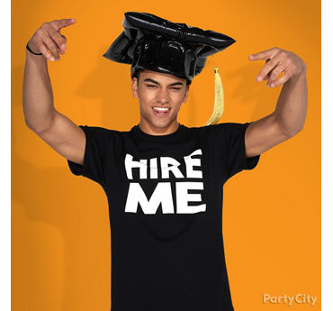 Graduation Hire Me T-Shirt Photo Idea