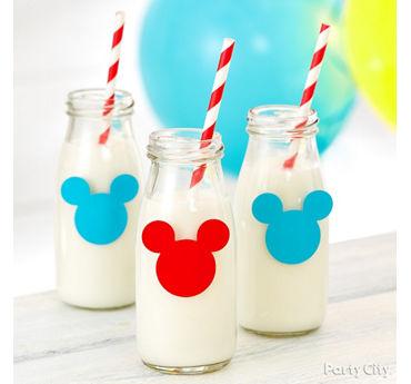 Mickey Mouse Milk Jars Idea