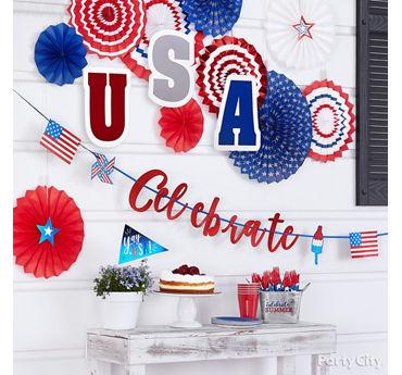 Patriotic Porch Decorating Idea