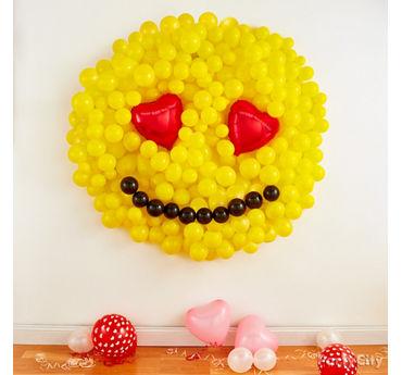 Smiley Balloon Wall Idea