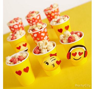 Smiley Valentines Party Popcorn Treat Idea