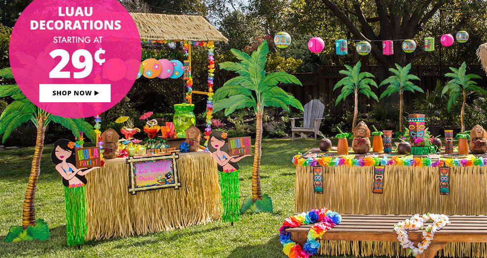 Luau Decorations starting at $0.29 Shop Now