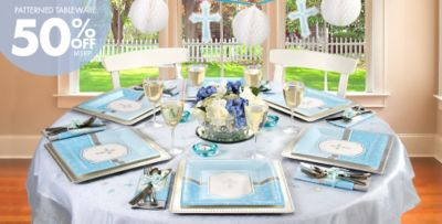 Blue Communion Blessings Party Supplies & Boys First Party Supplies - Communion Blessings | Party City Canada