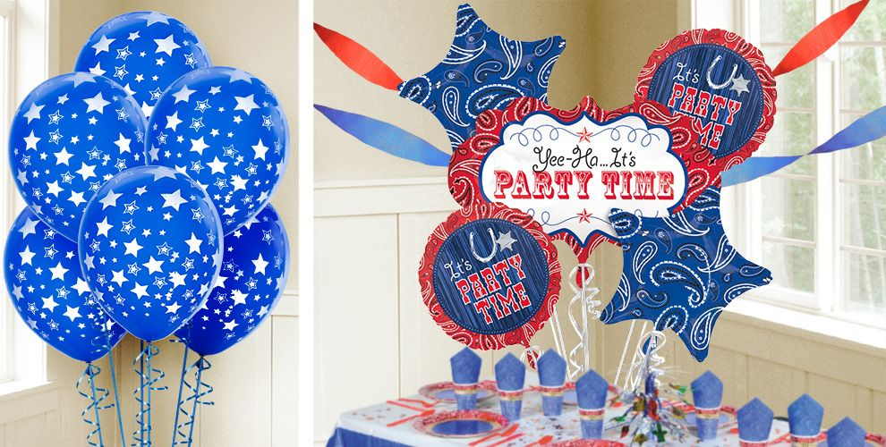 Western Party Balloons