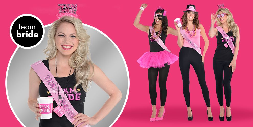 Team Bride Bachelorette Party Supplies | Party City