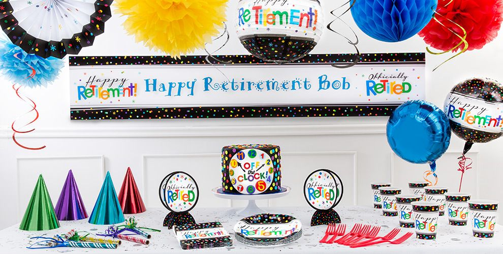 Happy Retirement Party Supplies