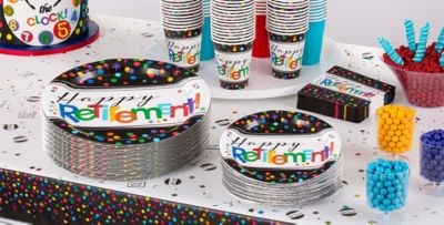 Happy Retirement Party Supplies ...  sc 1 st  Party City : candy themed paper plates - pezcame.com