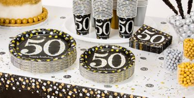 Sparkling Celebration 50th Birthday Party Supplies Party City