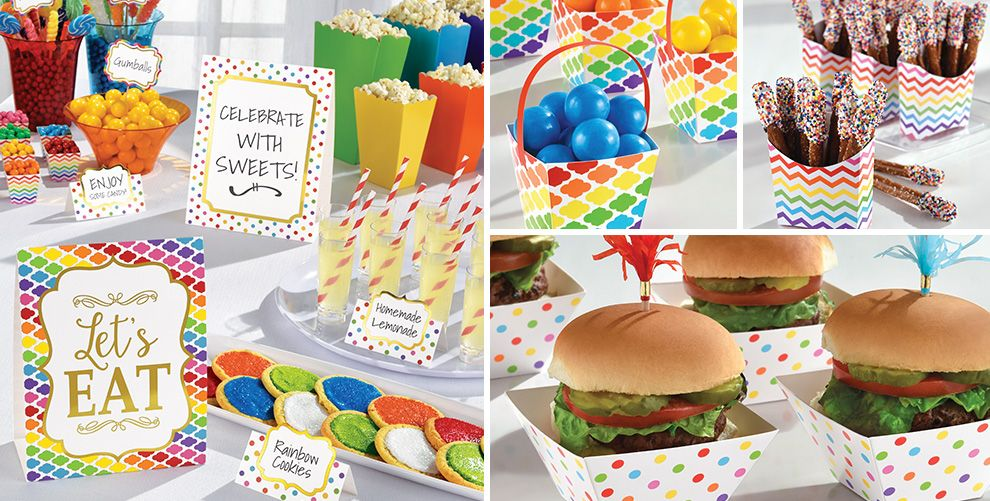 Bright Rainbow Mini Tasting Party Supplies
