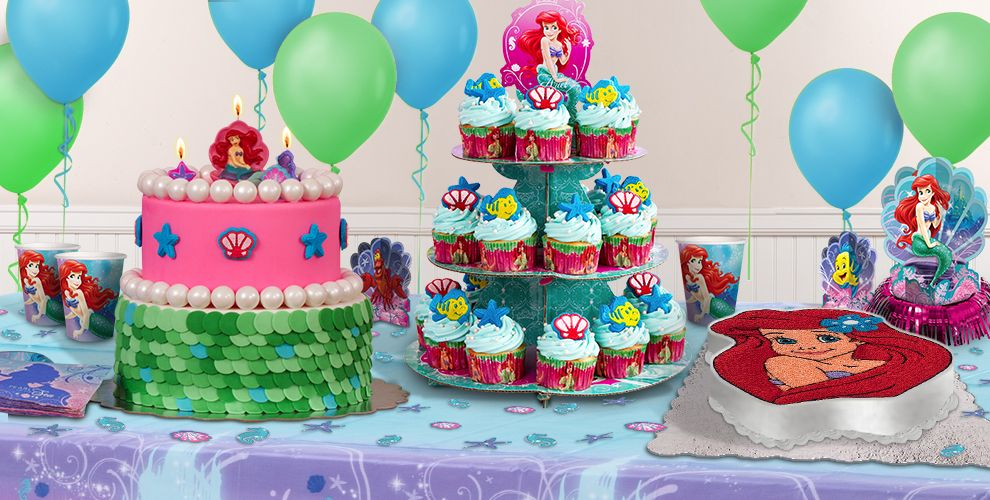 Little Mermaid Cake Supplies Cupcake Cookie Ideas Party City